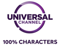 The broadcaster has the new tagline, '100% Characters'.