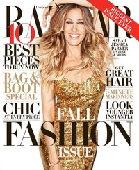 Sarah Jessica Parker on the cover of Harper's Bazaar September issue