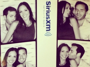 Bachelorette couple Desiree Hartsock and Chris Siegfried have fun in a photo booth