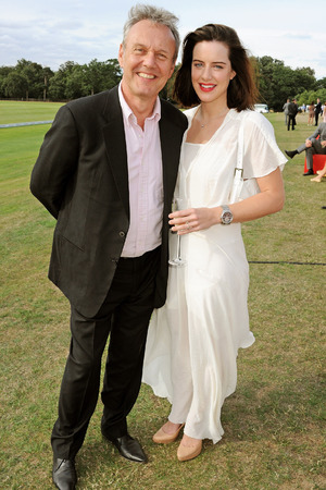 Anthony Head (L) and Michelle Ryan attend day 2 of the Audi Polo Challenge at Coworth Park Polo Club on August 4, 2013 in Ascot, England