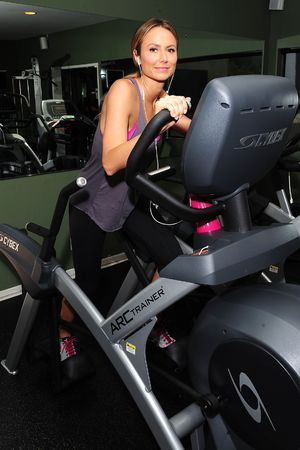 Stacy Keibler working out on the Cybex Arc Trainer, Los Angeles