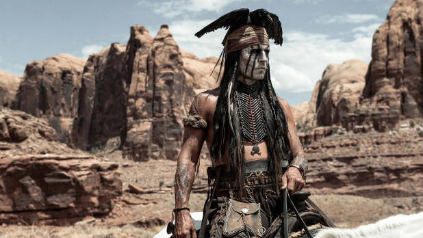 Johnny Depp as Tonto in The Lone Ranger