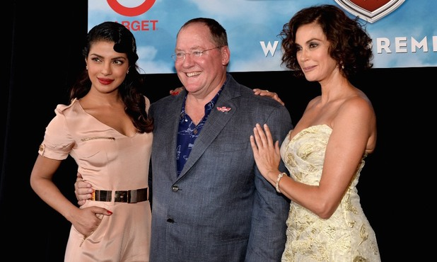 Priyanka Chopra, John Lasseter and Teri Hatcher