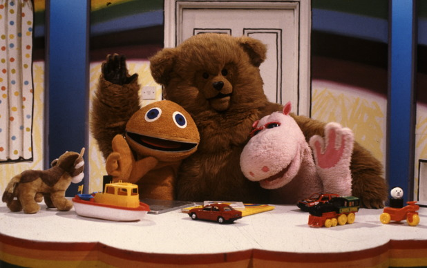 Zippy, Bungle and George on 'Rainbow'