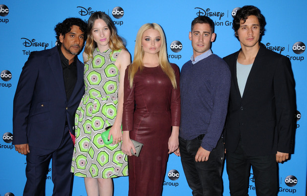 Disney ABC Television TCA Summer Press Tour, Los Angeles, America - 04 Aug 2013 Naveen Andrews, Sophie Lowe, Emma Rigby, Michael Socha and Peter Gadiot cast of Once Upon a Time in Wonderland
