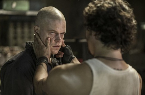 Matt Damon and Wagner Moura in 'Elysium'
