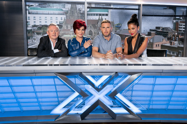 The X Factor 2013 judges: Louis Walsh, Sharon Osbourne, Gary Barlow and Nicole Scherzinger