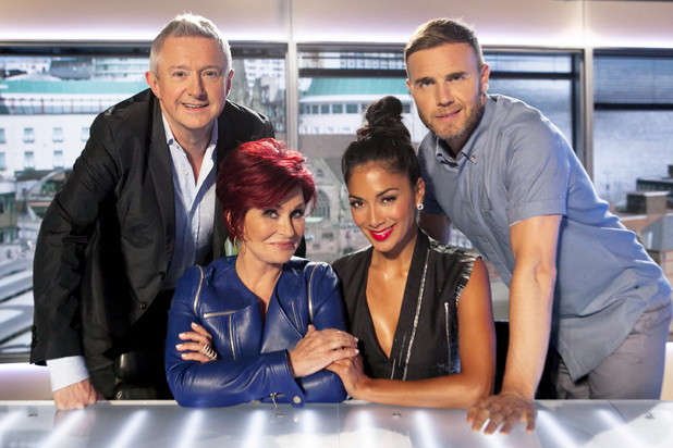 The X Factor 2013 judges: Louis Walsh, Sharon Osbourne, Nicole Scherzinger and Gary Barlow