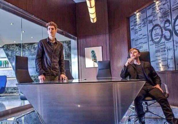Andrew Garfield and Dane DeHaan in 'The Amazing Spider-Man 2'