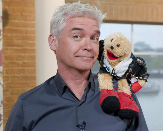 Phillip Schofield and Gordon the Gopher
