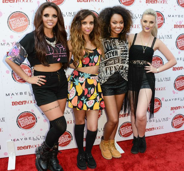Little Mix perform at the Teen Vogue back to school kickoff event at the Grove, Los Angeles.