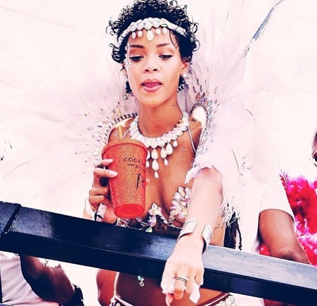 Rihanna parties at a carnival in Barbados