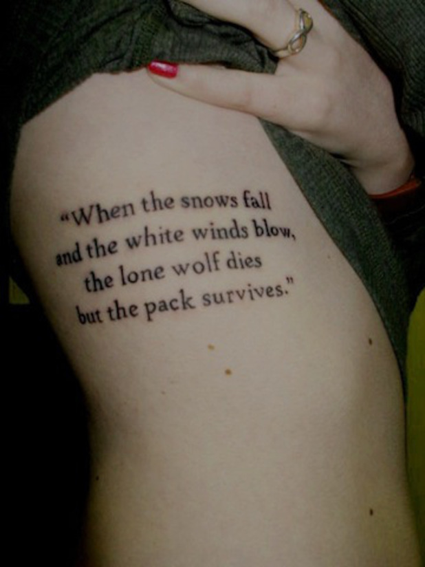 'Game of Thrones' tattoo, Ned Stark quote