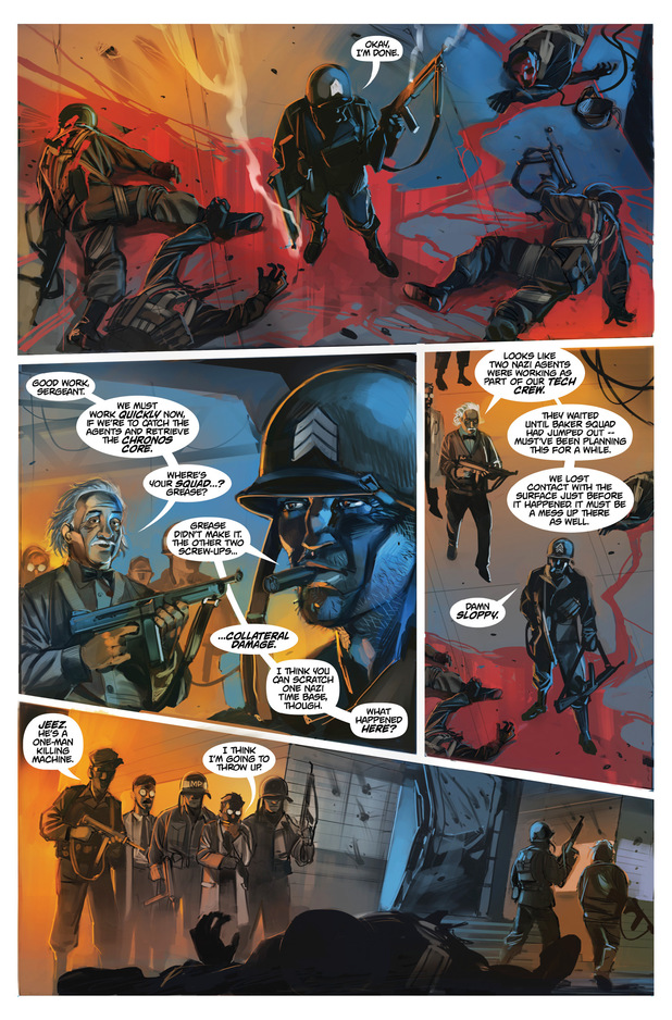 'Chronos Commandos' #2 page 3 preview