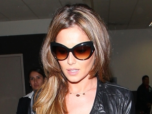 Cheryl Cole touches down at LAX airport