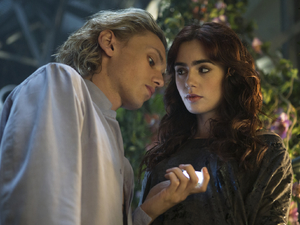 Lily Collins, Jamie Campbell Bower in The Mortal Instruments: City of Bones