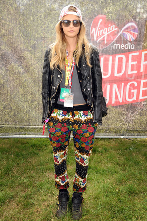Cara Delevingne in the Virgin Media Louder Lounge
