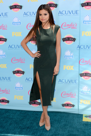 Selena Gomez arriving at the Teen Choice Awards 2013