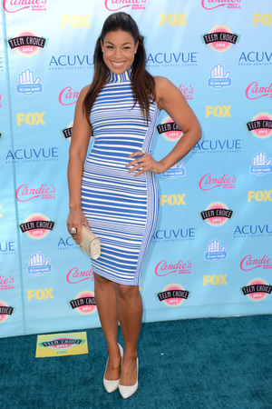 Jordin Sparks arriving at the Teen Choice Awards 2013