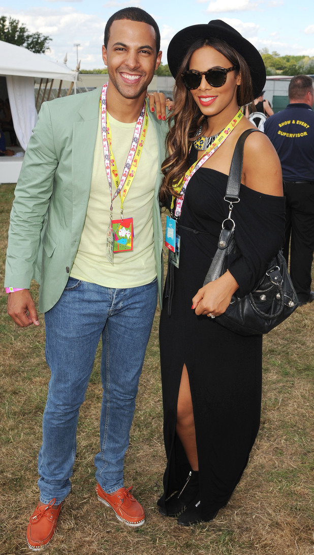 Marvin and Rochelle Humes enjoy day 2 of V Festival.