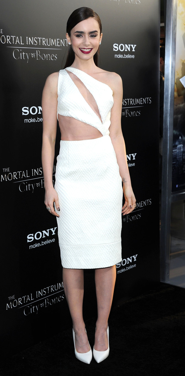 Lily Collins, 'The Mortal Instruments: City Of Bones' LA premiere at ArcLight Cinemas