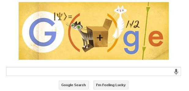 Erwin Schrödinger's Schrödinger's Cat Google Doodle
