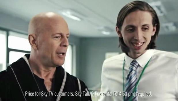 Bruce Willis Sky Advert Banned From Tv By Asa Celebrity
