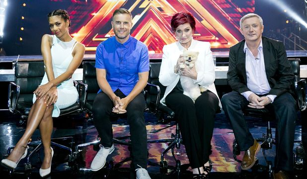The judges Nicole Scherzinger, Gary Barlow, Sharon Osbourne and Louis Walsh at 'The X Factor' Boom Camp auditions