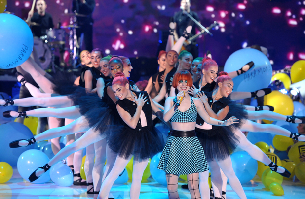 Hayley Williams of Paramore performs at the Teen Choice Awards 2013