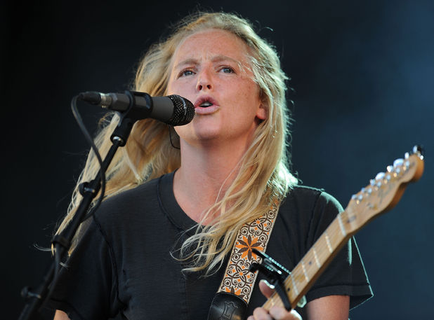 Lissie performs on the 4 Music stage during day two of the V Festival at Weston Park in Weston-under-Lizard.