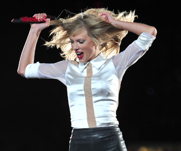 Taylor Swift performs live in concert on The RED Tour at Soldier Field, Illinois