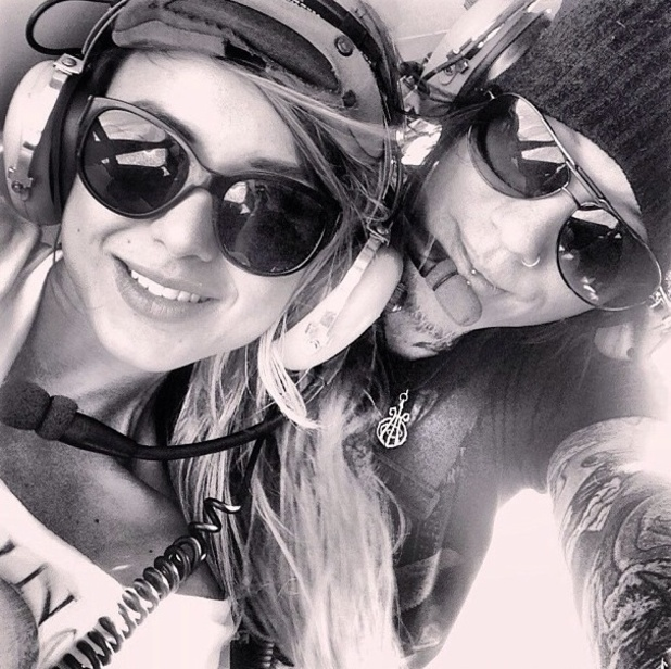 Guns N' Roses star DJ Ashba proposes to his girlfriend Nathalia Henao.