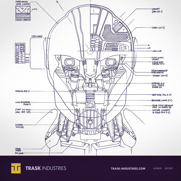 'X-Men: Days of Future Past' Sentinel blueprint