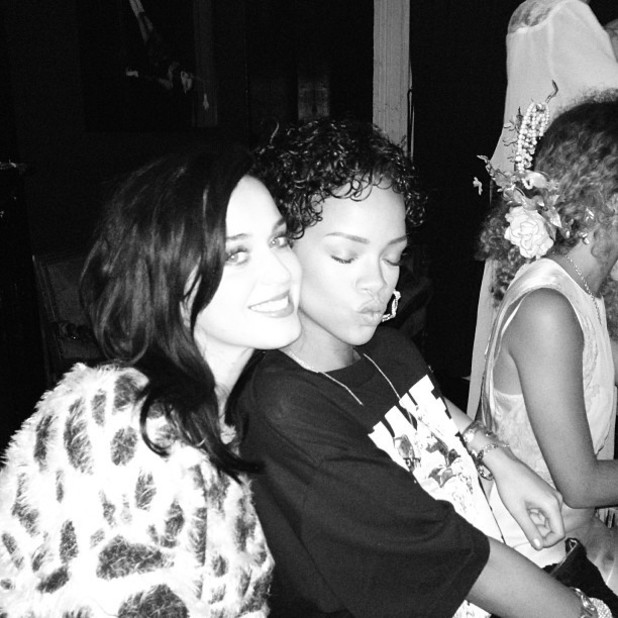 Katy Perry with Rihanna in New York