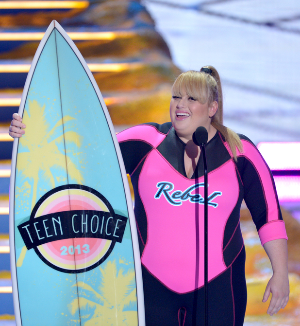 "Rebel Wilson accepts the award for choice movie actress: comedy for ""Pitch Perfect"" at the Teen Choice Awards 2013"