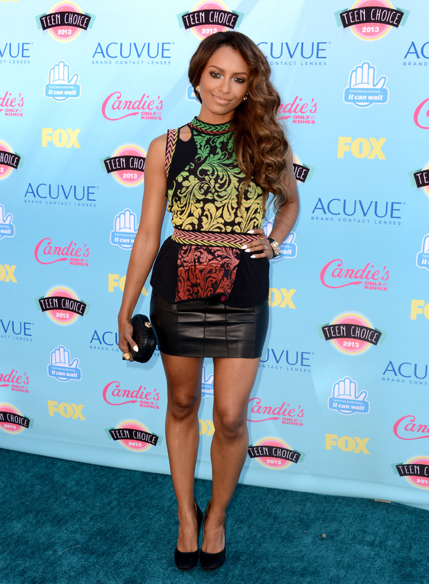 Kat Graham arriving at the Teen Choice Awards 2013