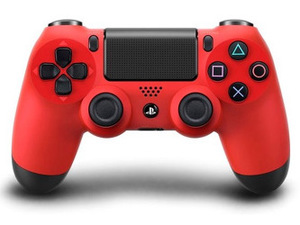 Red PlayStation 4 Dualshock controller