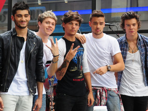 One Direction perform on the 'Today' show as part of their NBC Toyota Concert Series in Rockefeller Center