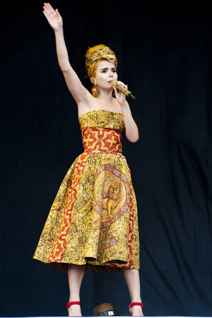 Paloma Faith performing at the V Festival in Chelmsford, Essex.