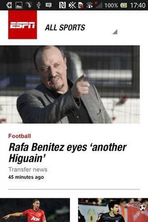 'ESPN UK' screenshot