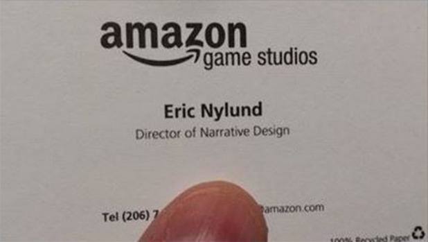Eric Nylund's Amazon Game Studios business card