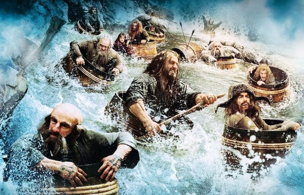 Dwarves escape in 'The Hobbit: The Desolation of Smaug'