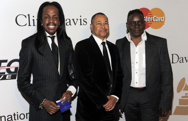 Verdine White, Ralph Johnson and Philip Bailey of Earth, Wind & Fire