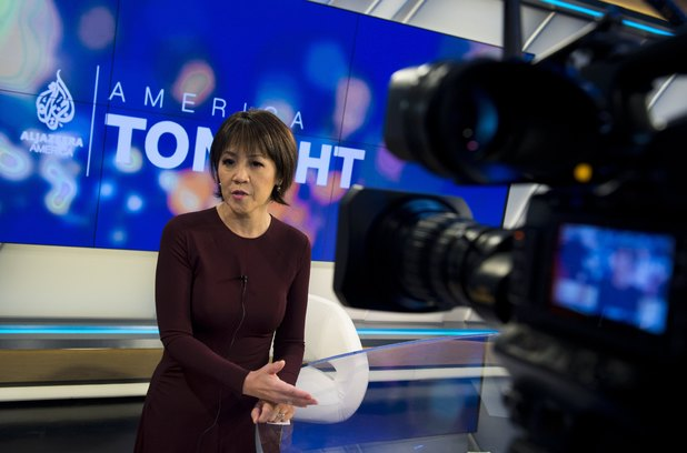 Joie Chen, host of the new Al Jazeera America nightly news program America Tonight