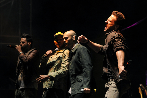 5ive perform on the Arena stage at V Festival 2013