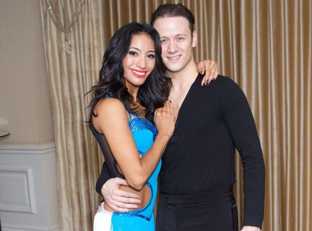 Kevin Clifton with previous dance partner Karen Hauer
