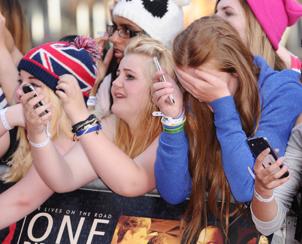 Fans at the 'One Direction: This Is Us' film premiere, London, Britain - 20 Aug 2013