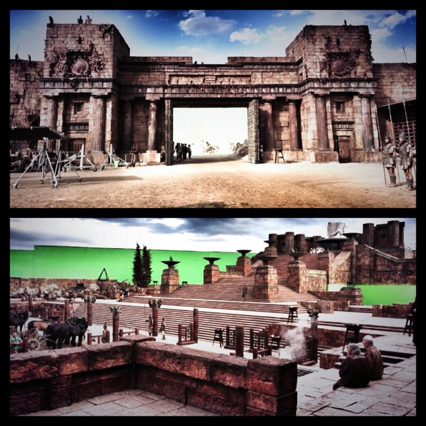Pictures from the 'Hercules' movie set