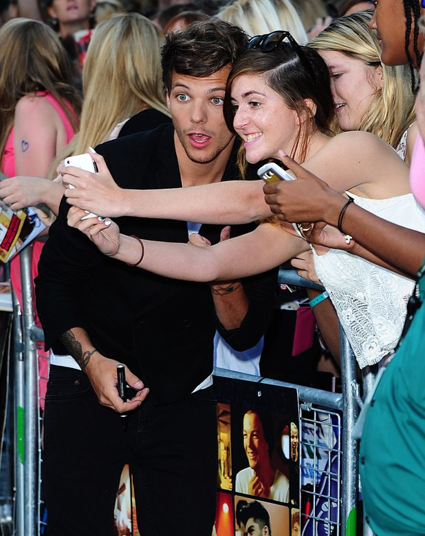 Louis Tomlinson at the This Is Us premiere