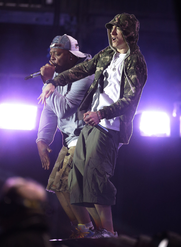 Eminem performing at Reading 2013